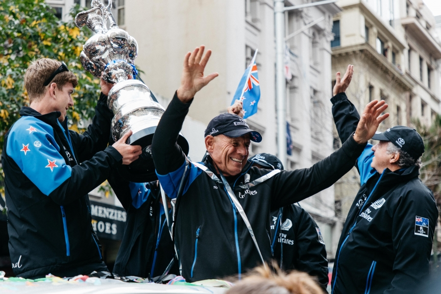 06/07/17 Emirates Team New Zealand - America's Cup Victory Parade in Auckland City  Copyright: Richard Hodder