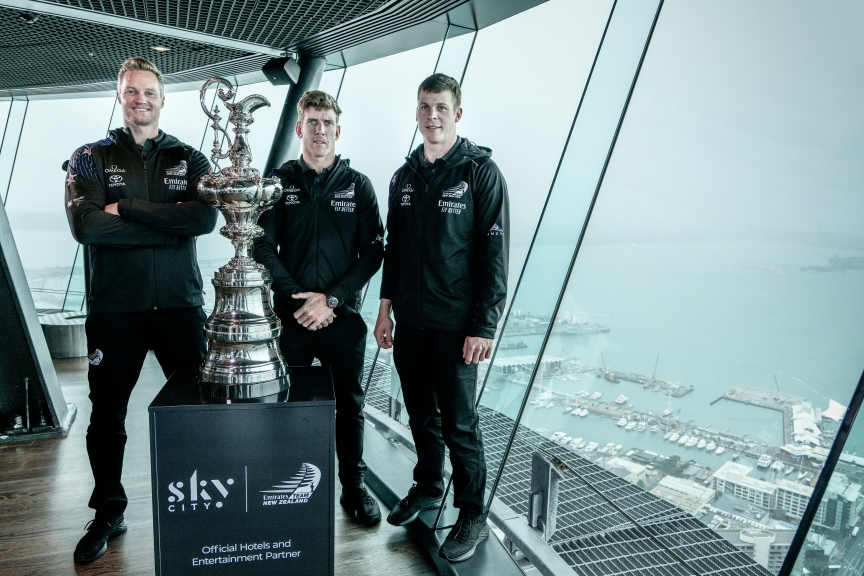 Emirates Team New Zealand 36th America's Cup  SkyCity Partnership Announcement