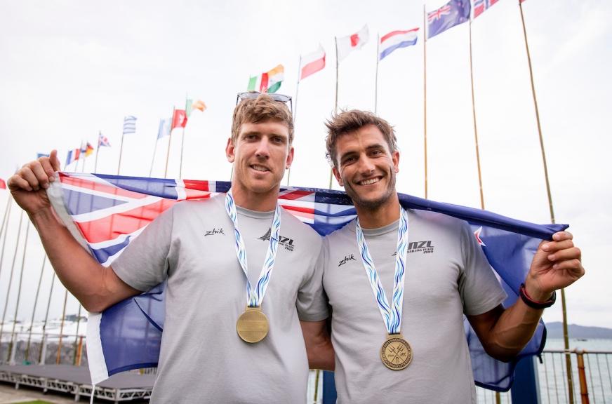49er, 49erFX, Nacra 17 World Championships, Auckland 2019 © Pedro Martinez / Sailing Energy 08 December, 2019.