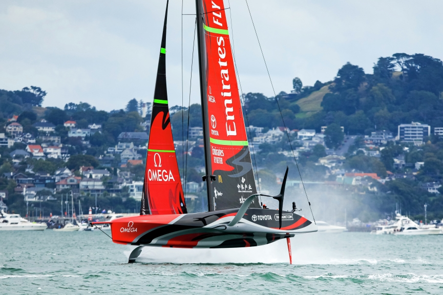 16/03/21 - Auckland (NZL) 36th America's Cup presented by Prada America's Cup Match - Race Day 7 Emirates Team New Zealand
